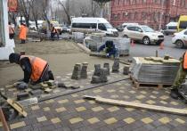 На улице Анри Барбюса обновляют пешеходные зоны