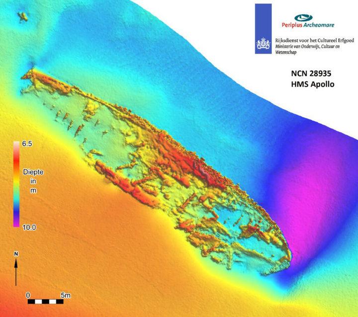 Дайверы нашли британский военный корабль, затонувший во время наполеоновских войн