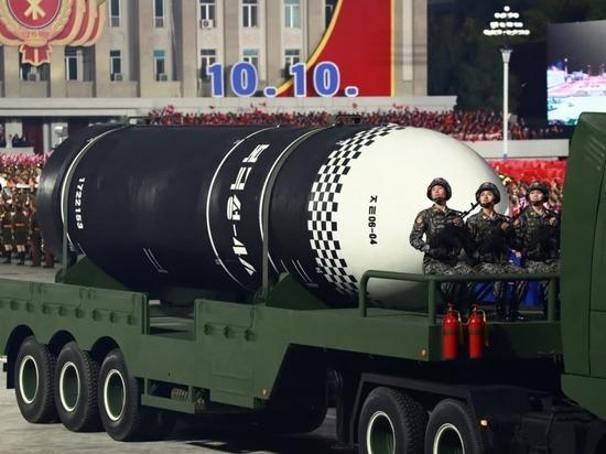 В Северной Корее прошёл военный парад