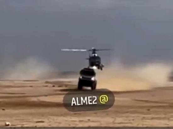 """Грузовик, которым управлял пилот Антон Шибалов столкнулся с вертолетом организаторов во время прохождения 12-го этапа ралли-марафона """"Дакар"""""""