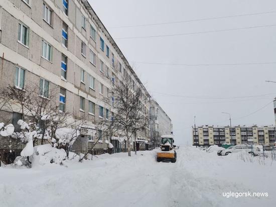 В Углегорском районе на Сахалине не знают куда вывозить снег