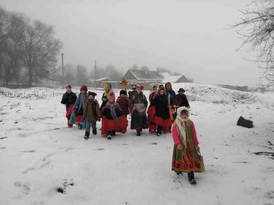 Старинный обряд щедрования провели на Ставрополье