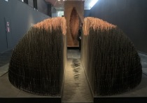 Первая ретроспектива Аллы Урбан в Третьяковской галерее начинается с символичной инсталляции длинной 21 метр под названием «Волна»