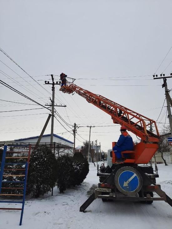В Анапском районе восстановили энергоснабжение