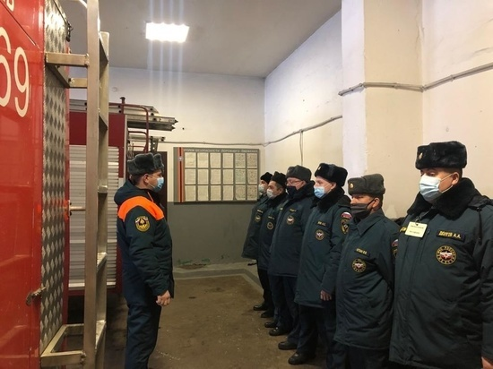 Внезапная проверка прошла в одной из пожарных частей Тульской области