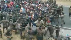В Гватемале толпа мигрантов устремилась к мексиканской границе