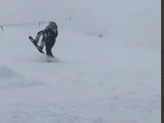 Появилось видео схода лавины на туристов в Карачаево-Черкесии