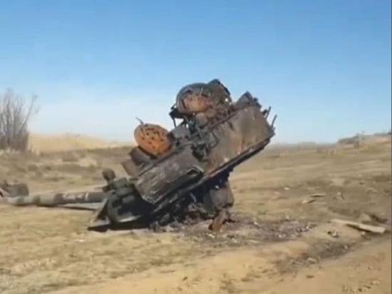В ходе осенних боёв в Нагорном Карабахе был уничтожен танк Т-90С армии Азербайджана