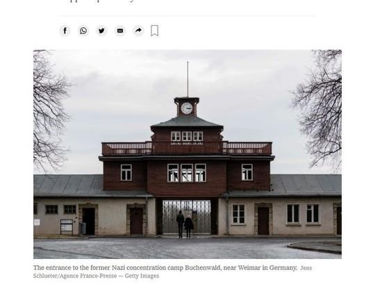 В Бухенвальде посетители покатались на санках по братским могилам