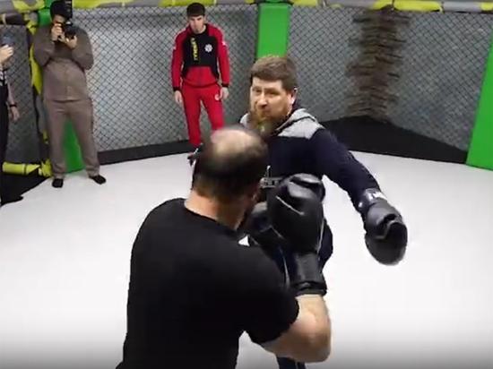 Глава Чеченской республики Рамзан Кадыров принял участие в «грандиозном вечере бокса» вместе с подчиненными, в котором одержал победу