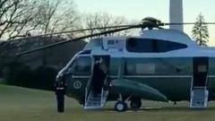 Дональд Трамп покинул Белый дом: последние кадры