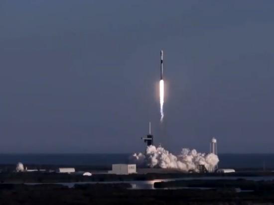 SpaceX в восьмой раз запустила ракету Falcon с той же первой ступенью