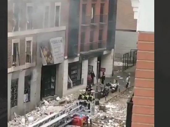 Названа причина мощного взрыва в центре Мадрида