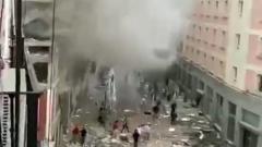 В Мадриде взрыв разрушил жилой дом: кадры с места