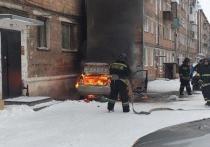 На трассе Абакан-Сорск в пути загорелся автомобиль