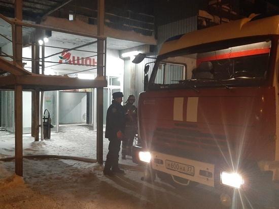 В Иванове под утро загорелся офис в торговом центре «Ашан»