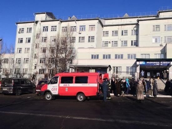 Диагностический центр в Чите полностью эвакуировали из-за пожара