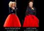 Певица Леди Гага для исполнения гимна США на церемонии инаугурации Джо Байдена выбрала запоминающийся наряд в виде красной юбки, темно-синего пиджака, дополнив его брошью в виде голубя