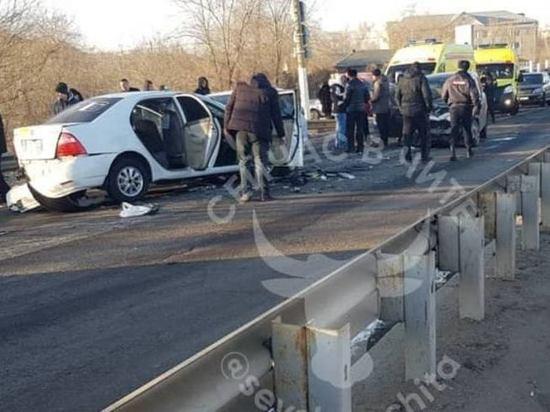 Тройное ДТП с пострадавшими произошло на мосту через Ингоду в Чите