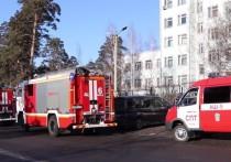 В МЧС назвали возможную причину пожара в диагностическом центре Читы