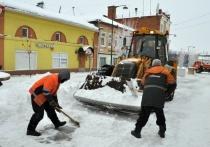 Коммунальные службы Серпухова борются с последствиями снегопада