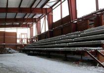 Илья Середюк рассказал о ходе строительства катка в Рудничном районе Кемерова