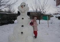 В Донецке прошел конкурс на лучшего снеговика