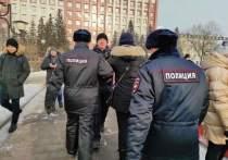 Первые задержания участников акции на площади Ленина начались в Чите, сообщают корреспонденты «МК в Чите»