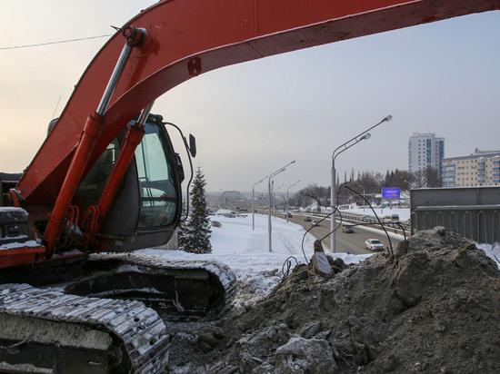 В Уфе продолжается реконструкция развязки на улице Заки Валиди – дорогу на мост через Белую расширят до шести полос