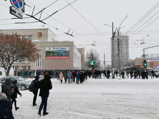 В Кирове прошел несанкционированный митинг в поддержку Навального