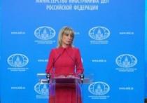 Захарова призвала к ответу дипломатов США из-за акций за Навального