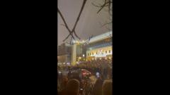 Разгром машины с мигалкой на Цветном бульваре попал на видео