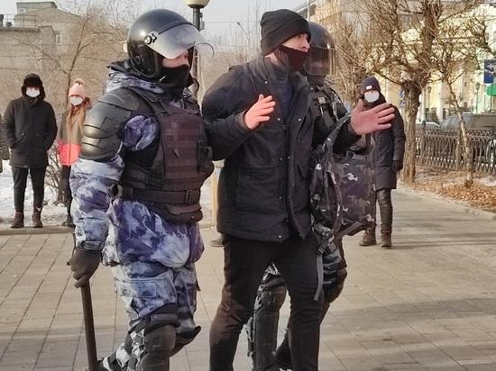 Названо число задержанных во время протеста 23 января в Чите
