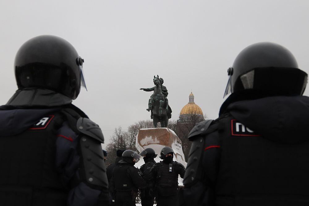Несанкционированный митинг 23 января: лучшие кадры