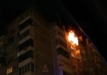 В Краснодаре горела многоэтажка по улице Черкасской