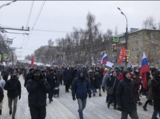Несогласованная общественная акция прошла в Ижевске 23 января