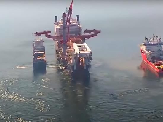 """Судно """"Фортуна"""" начало прокладку """"Северного потока - 2"""" в водах Дании"""