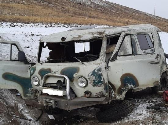 Водитель погиб в слетевшем с дороги УАЗ в Забайкалье