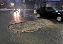 Рязанцы пожаловались на огромные ямы на дорогах после таяния снега
