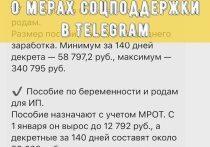 В Серпухове создали Телеграм-канал о мерах социальной поддержки