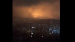 Мощное замыкание осветило ночную Ялту как молния: видео