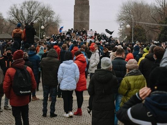 Несанкционированный митинг в Астрахани 31 января: онлайн-трансляция «МК в Астрахани»
