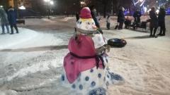 В Оренбурге прошел конкурс на создание снеговика