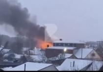 На улице Мервинская в Рязани произошёл пожар