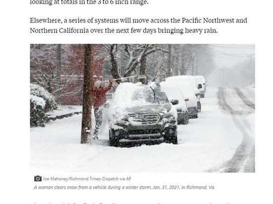 Журналисты засняли гигантских панд во время аномального снегопада в штате Колумбия