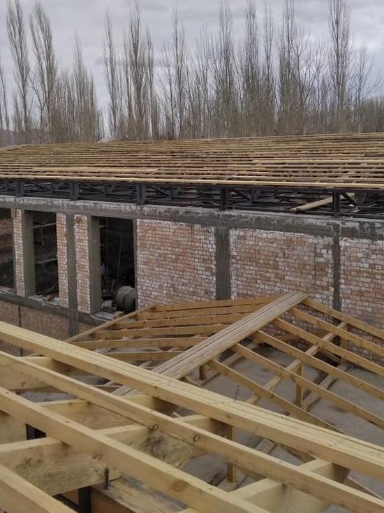 Новую школу в Баткенской области построили на 55%