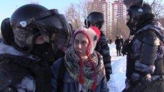 Массовые задержания у Мосгорсуда попали на видео