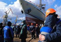 В Керчи состоялся спуск на воду патрульного корабля
