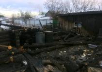В Медведевском районе бабушка спаслась из горящего дома через окно