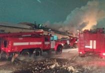 В Старом Кировске в Омске горел большой продуктовый склад